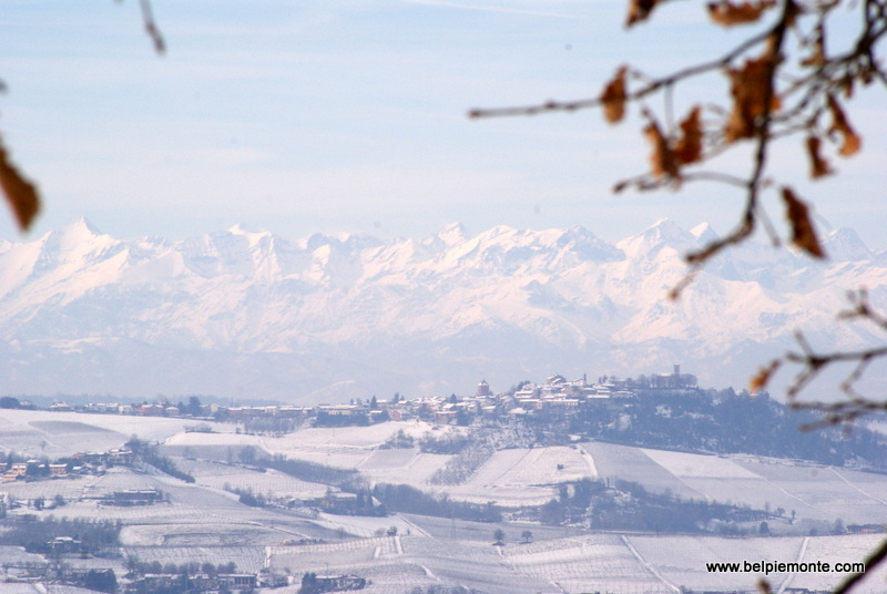 the Alps seen from a distance
