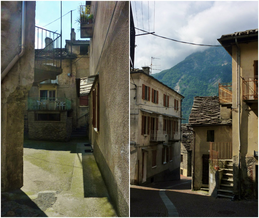 Streets of Carema in Piemonte, Italy