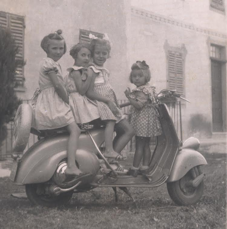Mariuccia Borio (left) with four of her cousins at Cascina Castlet