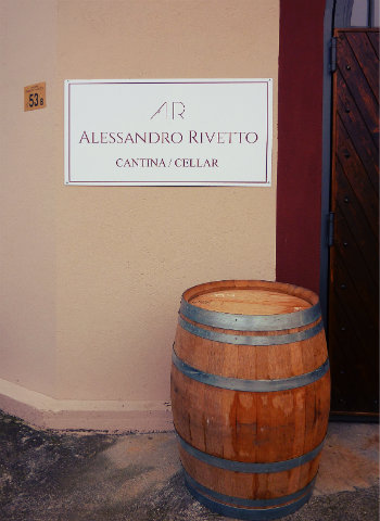 Entry to Alessandro Rivetto winery