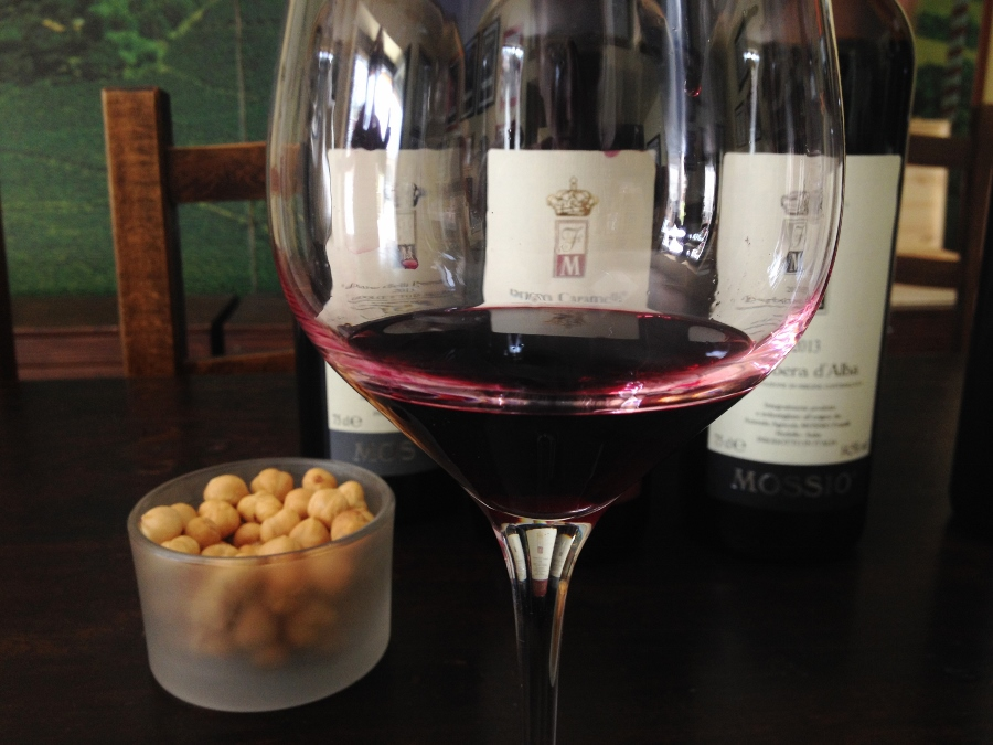 Dolcetto d'Alba and hazelnuts