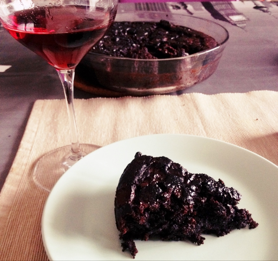 Dark chocolate beet cake with Brachetto d'Acqui