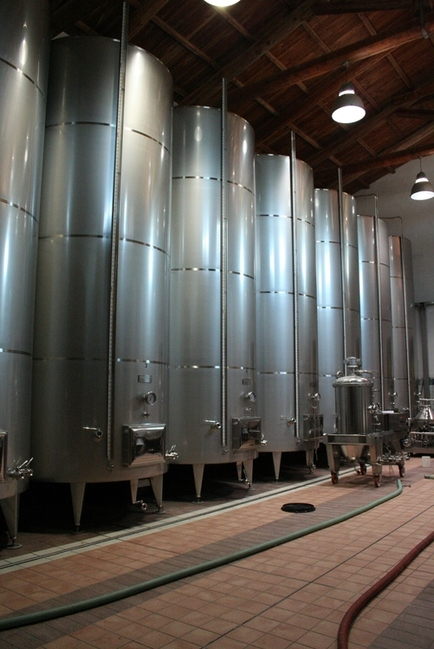 Autoclaves at La Caudrina winery