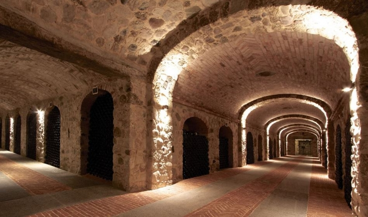 Cascina Chicco's wine cellars